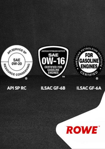 ROWE ОБНОВЛЕНИЕ ПРОДУКТОВ HIGHTEC SYNT RS D1 С ДОПУСКАМИ API SP / ILSAC GF-6